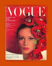 VOGUE MAGAZINE-APRIL 1,1965-WILHEMINA-JANE HOLZER-BRIGITTE BARDOT-VERUSHKA