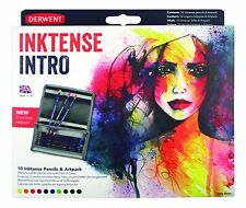 Derwent Inktense Watercolour Pencils Intro Set (10 Inktense Pencils + 1 ArtPack)