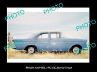 LARGE HISTORIC PHOTO OF GM HOLDEN, THE 1962 EK HOLDEN SPECIAL SEDAN PRESS PHOTO
