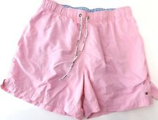 TOMMY HILFIGER Mens Swim Swimming Shorts M Medium W33 L6 Pink Polyester