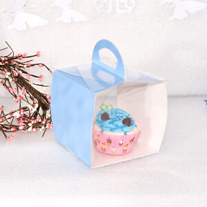 Blue Single Cupcake Boxes Party Favor Gift Box Set of 12