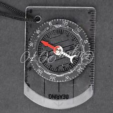 Mini Compass Army Scouts Hiking Camping Outdoor Boating Map Reading Orienteering