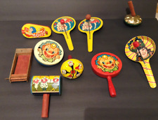 Original 1950's Tin Noisemaker Toys Collection-10 Different, working, made in US