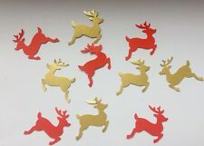 Christmas reindeer TABLE CONFETTI Red Gold Table Decorations Wedding Party