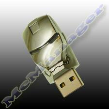 Iron Man Plateado 8 Gb flash/pen unidad de memoria USB (no Fake 32gb-64gb)