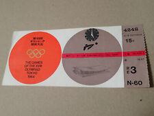 1964 TOKYO OLYMPIC GAMES VOLLEYBALL TICKET KOREA Vs. SOVIET UNION (RUSSIA)