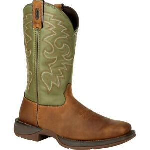 Rebel™ by Durango® Coffee & Cactus Pull-On Western Boot