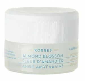 Korres ALMOND BLOSSOM Natural Face CREAM Very Dry Dehydrated Skin 40ml
