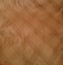 10 Metres Gold Raised Diamond Design Faux Silk Taffeta Curtain & Interior Fabric