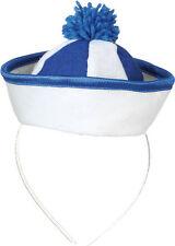 Matrosen Mini Hut blau für Damen NEU - Karneval Fasching Hut Mütze Kopfbedeckung