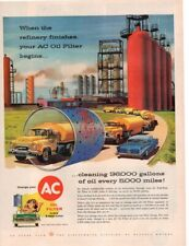 Vintage Print advertisement ad 1957 AC Oil Filter Car Trucks Refinery cool art
