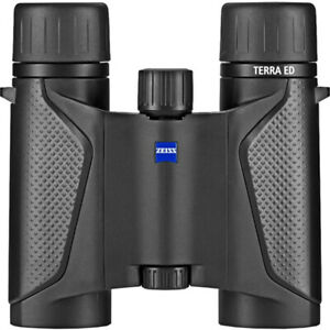ZEISS TERRA ED 10X25 POCKET BINOCULARS (BLACK/BLACK)