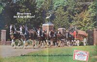 "Budweiser Beer Clydesdales Anheuser Busch Poster Print Ad 14"" X 20"""