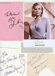 Job Lot #159 Good Lot of 21x signatures of Entertainers, Pics, Actors,Actresses