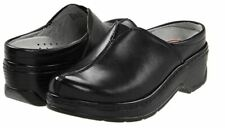 Klogs Footwear Size 7 Wide COMO Black Leather Clogs New Womens Shoes