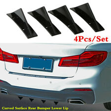 Universal 4Pcs/Set Triangle Spoiler Rear Lip Bumper Decorative Curved Surface