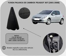 Funda Palanca de Cambios Piel Auténtica Compatible con PEUGEOT 307 (2001-2008)
