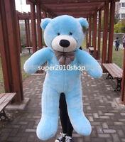 "47"" Giant Huge Blue Teddy Bear Soft Plush Doll Stuffed Animal Toy Birthday Gifts"