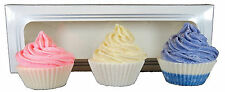 ATTIS Natural Handmade Cupcake Soaps Gift set of 3 - Lemon, Rose, Lavender