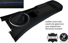 BLUE STITCH CONSOLE & GAITER LEATHER COVERS FITS MAZDA MX5 MK3 05-14 STYLE 2
