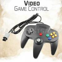Remote Controller Video Game System Pad for Nintendo 64 N64 Black Console