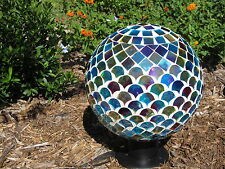 "Carson Home Accents 10"" Mosaic Gazing Ball - Ocean Iridescence 65716"