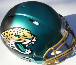 Jacksonville Jaguars Custom Speed Blaze Football Helmet QB Decals Used Minshew