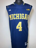Adidas Michigan Wolverines Basketball Blue Yellow Jersey Shirt 4 WEBBER XL VGC