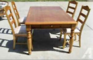 Ashley Furniture Pine Dining Room Set
