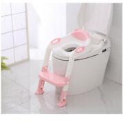 New design Kids Baby soft Potty Portable ladder Training Trainer toilet seat