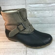 Sperry Topsider Women's Size 7 Waterproof Boots Ankle Suede Buckle FREE SHIPPING