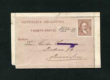 Argentinien Kartenbrief um 1889   (JK-43)
