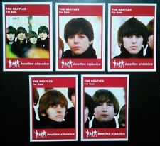 Set of 5 BEATLES CLASSICS trade cards - FOR SALE - Red series
