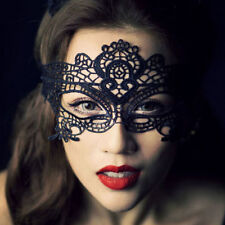 Black Stunning Venetian Masquerade Eye Mask Halloween Party Lace Fancy Dress Hot