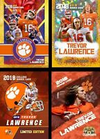 (4) LOT 2018 TREVOR LAWRENCE FIRST EVER GOLD COLLEGE ROOKIE CARDS CLEMSON!