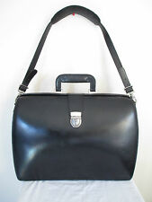 Jack Georges Elements Collection Triple Gusset Classic Briefcase Black Leather