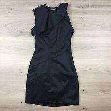 TOI ET MOI Little Black Dress LBD Zip Sleeve Ruffle Cocktail Party Size 6 (AP7)