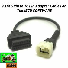 6 Pin To 16 Pin KTM Adapter Cable OBD2 OBDII Female For KTM Tune ECU Programming