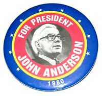 1980 JOHN BAYARD ANDERSON FOR PRESIDENT campaign pin pinback button political