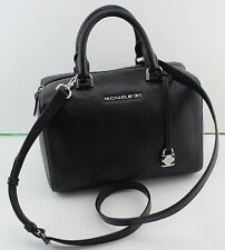 3b1e012639f938 NEW AUTHENTIC MICHAEL KORS KIRBY BLACK MD MEDIUM SATCHEL BARREL HANDBAG  WOMEN'S