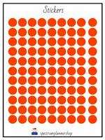 flag Sticker/ red circle  Stickers  Happy  planner sticker