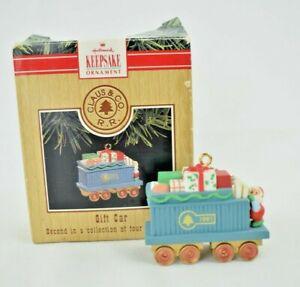 "Hallmark Keepsake Ornament - Claus & Co. R.R. ""Gift Car"" Second in the Set 1991"