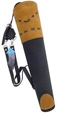 NEW TRADITIONAL SUEDE BACK ARROW QUIVER ARCHERY PRODUCTS AQ-133BLACK.