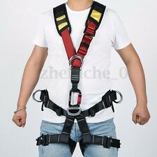 US Full Body Safety Rock Climbing Arborist Tree Rappelling Harness Seat Belt Hot