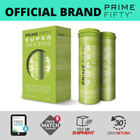 PRIME FIFTY Super Greens | Superfood for Energy/Immunity/Brain & More | 28 Tabs