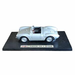 Maisto Special Edition Porsche 550 A Spyder 1:18 Silver Die Cast Model Car