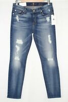 7 For All Mankind Ankle Skinny Destroy StretchSize 30 Distressed Light AU809744A