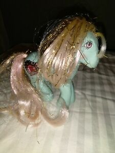Vintage 1987 G1 PRINCESS SERENA Blue My Little Pony Tinsel Hair Jewel Heart