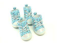 Hunde Schuhe, Little Doggy Sneaker blau 1Set / 4 Stück, Hundeschuhe Gr. 2