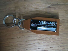 Nissan Vintage Data Plate Leather Keychain 300 ZX 280 Datsun Altima Maxima 350